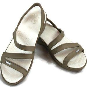 Crocs Patricia Slingback Wedge Heel Sandals